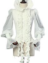 Недорогие -Сладкое детство Панк Элегантный стиль Викторианский стиль Мужской Блузы / сорочки Косплей Белый Вспышка рукава Длинный рукав Костюмы на Хэллоуин