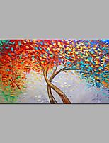 Недорогие -Hang-роспись маслом Ручная роспись - Абстракция / Цветочные мотивы / ботанический Modern Без внутренней части рамки