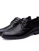 Недорогие -Муж. Комфортная обувь Полиуретан Лето На каждый день Туфли на шнуровке Нескользкий Черный