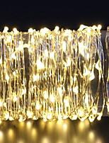 Недорогие -3M Гирлянды 60 светодиоды Тёплый белый Декоративная Аккумуляторы AA 1 комплект
