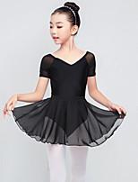 abordables -Danse classique Tenue Fille Entraînement Nylon Combinaison Sans Manches Taille haute Jupes / Collant / Combinaison
