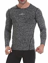 abordables -UABRAV Homme Col Ras du Cou Tee-shirt de Course Des sports Rayure Hauts / Top Pour Course / Running, Fitness, Faire des exercices Manches Longues Tenues de Sport Respirable, Séchage rapide / Hiver