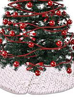 Недорогие -Рождество / Рождественские украшения Новогодняя ёлка Ткань Круглый Оригинальные Рождественские украшения