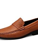 Недорогие -Муж. Кожаные ботинки Наппа Leather Весна & осень На каждый день / Английский Мокасины и Свитер Нескользкий Коричневый