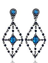 Недорогие -Жен. Классический Набор серьги - Цветы Мода Тёмно-синий Назначение Для вечеринок Повседневные
