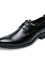 Недорогие -Муж. Комфортная обувь Полиуретан Осень Туфли на шнуровке Черный / Желтый / Для вечеринки / ужина