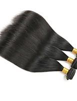 abordables -Lot de 3 Cheveux Brésiliens Cheveux Mongoliens Droit 8A Cheveux Naturel humain Cheveux humains Naturels Non Traités Cadeaux Costumes Cosplay Casque 8-28 pouce Couleur naturelle Tissages de cheveux