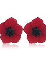 Недорогие -Жен. Классический Набор серьги - Цветы Мода Красный / Зеленый / Винный Назначение Для вечеринок Повседневные