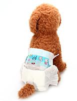 baratos -Cachorros Saúde / Calças / Limpeza Roupas para Cães Sólido Branco Misto de Algodão / Nãotecidos Ocasiões Especiais Para animais de estimação Unisexo Animais / Comum