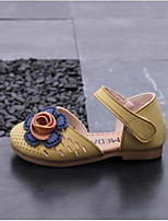 Недорогие -Девочки Обувь Микроволокно Лето Удобная обувь Сандалии для Дети Бежевый / Желтый / Розовый