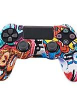 Недорогие -TOYILUYA Комплекты игровых контроллеров Назначение Sony PS4 ,  Творчество / Градиент цвета / Веселая Комплекты игровых контроллеров Силикон 1 pcs Ед. изм