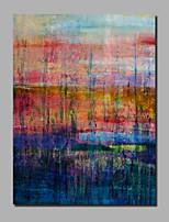 abordables -Peinture à l'huile Hang-peint Peint à la main - Abstrait / Paysage Contemporain / Moderne Inclure cadre intérieur / Toile tendue