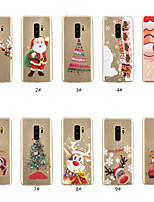 Недорогие -Кейс для Назначение SSamsung Galaxy S9 Plus / S9 Прозрачный / С узором Кейс на заднюю панель Рождество Мягкий ТПУ для S9 / S9 Plus / S8 Plus