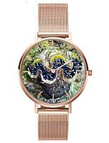 Недорогие -Жен. Наручные часы Японский Кварцевый Секундомер Очаровательный Творчество Нержавеющая сталь Группа Аналоговый Мода Цветной Серебристый металл / Розовое золото -  / Два года