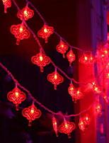 baratos -3M Cordões de Luzes 20 LEDs Vermelho Decorativa Baterias AA alimentadas 1conjunto