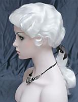 Недорогие -Парики из искусственных волос Муж. Волнистый Белый С конским хвостом Искусственные волосы 22 дюймовый синтетический Белый Парик Длинные Без шапочки-основы Белый
