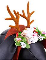 abordables -Chiens / Chats Accessoires pour Cheveux Décoration / Pliage / Cosplay Fleur / Noël Tissu Arc-en-ciel