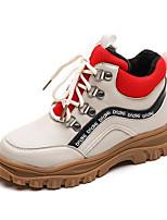 Недорогие -Мальчики / Девочки Обувь Микроволокно Зима Армейские ботинки Ботинки Шнуровка для Дети Черный / Бежевый / Контрастных цветов