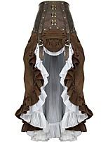 Недорогие -Steampunk Костюм Жен. Нижняя юбка Заклепка Кофейный Винтаж Косплей Шифон Плюшевая ткань Хлопок