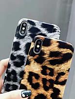 Недорогие -Кейс для Назначение Apple iPhone XR / iPhone XS Max Ультратонкий Кейс на заднюю панель Леопардовый принт Мягкий Кожа PU для iPhone XS / iPhone XR / iPhone XS Max