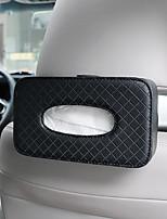abordables -de ran fu boîte de serviettes en papier pour voiture sac en papier créatif multifonctionnel en cuir ombrage chaise arrière voiture boîte de serviettes en papier