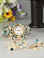 baratos -FEIS Mulheres Bracele Relógio Quartzo Cronógrafo Lega Banda Analógico-Digital Fashion Dourada - Dourado Azul