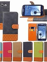 abordables -Coque Pour Samsung Galaxy S9 Plus / S8 Plus Porte Carte / Antichoc / Avec Support Coque Intégrale Couleur Pleine / Formes Géométriques Dur Textile pour S9 / S9 Plus / S8 Plus