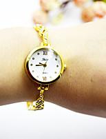 Недорогие -Жен. Нарядные часы Наручные часы Кварцевый Повседневные часы Cool сплав Группа Аналоговый Элегантный стиль минималист Золотистый - Золотой