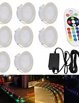 baratos -YWXLIGHT® 1pç 5 W Impermeável / Regulável RGB 100-240 V Iluminação Externa / Pátio / Jardim 24 Contas LED