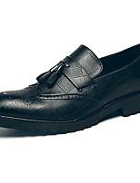 Недорогие -Муж. Официальная обувь Синтетика Весна & осень На каждый день / Английский Мокасины и Свитер Нескользкий Черный