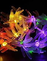 Недорогие -4.6м Гирлянды 20 светодиоды Разные цвета Работает от солнечной энергии / Декоративная Солнечная энергия 1 комплект