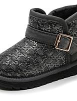 Недорогие -Девочки Обувь Синтетика Зима Зимние сапоги / Модная обувь Ботинки для Дети / Дети (1-4 лет) Черный / Серый