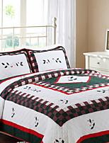 baratos -Confortável - 1 Edredom / Almofadas 2pcs (apenas 1pc travesseiro para Duplo ou individual) Inverno Algodão Geométrica