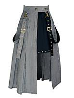 Недорогие -Steampunk Костюм Жен. Нижняя юбка Черное и белое Винтаж Косплей Хлопок