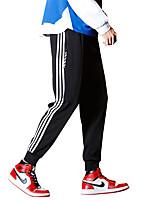 billiga -Herr Elastiskt midjeband / Snörning Löparbyxor - Svart, Röd, Grön sporter Ensfärgat Byxa Fitness, Gym, Träna Sportkläder Andningsfunktion, Snabb tork, Svettavvisande Microelastisk Smal, Normal