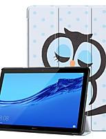 Недорогие -Кейс для Назначение Huawei Huawei Mediapad T5 10 / Huawei MediaPad T3 8.0 / Huawei MediaPad T3 7.0 Защита от удара / со стендом / Ультратонкий Чехол Животное Твердый Кожа PU