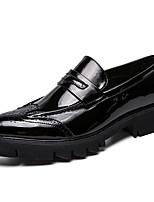 Недорогие -Муж. Комфортная обувь Полиуретан Осень Мокасины и Свитер Черный / Для вечеринки / ужина