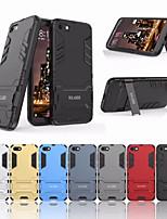Недорогие -Кейс для Назначение Huawei Y530 / Enjoy 7S Защита от удара / со стендом Кейс на заднюю панель Однотонный Твердый ПК для Huawei Y5 (2018) / Huawei Enjoy 7S