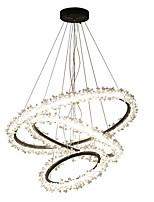 abordables -Ecolight™ Circulaire / Cristal / Nouveauté Lustre Lumière d'ambiance Plaqué Aluminium Acrylique Cristal, Créatif, Design nouveau 110-120V / 220-240V Blanc Crème / Blanc