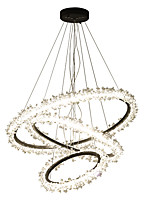 baratos -Ecolight™ Circular / Cristais / Novidades Lustres Luz Ambiente Galvanizar Alumínio Acrílico Cristal, Criativo, Novo Design 110-120V / 220-240V Branco Quente / Branco
