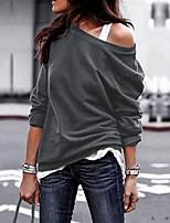 Недорогие -Жен. Уличный стиль Брюки - Однотонный Серый