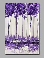 abordables -Peinture à l'huile Hang-peint Peint à la main - Abstrait / A fleurs / Botanique Contemporain / Moderne Inclure cadre intérieur / Toile roulée / Toile tendue