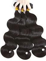 Недорогие -3 Связки Бразильские волосы Естественные кудри 8A Натуральные волосы Необработанные натуральные волосы Подарки Косплей Костюмы Головные уборы 8-28 дюймовый Естественный цвет Ткет человеческих волос