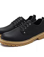Недорогие -Муж. Комфортная обувь Полиуретан Осень На каждый день Туфли на шнуровке Нескользкий Черный / Темно-русый / Темно-коричневый