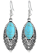 abordables -Femme Bleu Bleu Classique Boucles d'oreilles - Fleur Mode Bleu de minuit Pour Soirée Quotidien