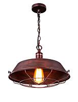 billiga -Mini Hängande lampor Fluorescerande Målad Finishes Metall Ministil 110-120V / 220-240V