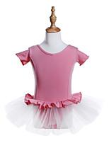 abordables -Danse classique Robes Fille Entraînement / Utilisation Coton / Spandex / Tulle Ondulé / Combinaison Manches Courtes Robe