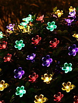 baratos -6m Cordões de Luzes 50 LEDs Multicolorido Decorativa Alimentado por Energia Solar 1conjunto