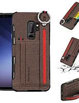 Недорогие -Кейс для Назначение SSamsung Galaxy S9 Plus / S9 Бумажник для карт / Защита от удара Кейс на заднюю панель Однотонный Мягкий ТПУ для S9 / S9 Plus