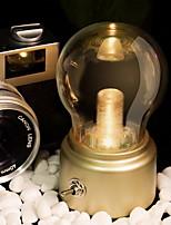 Недорогие -Простой Декоративная Настольная лампа Назначение Спальня Пластик <36V Золотой / Черный